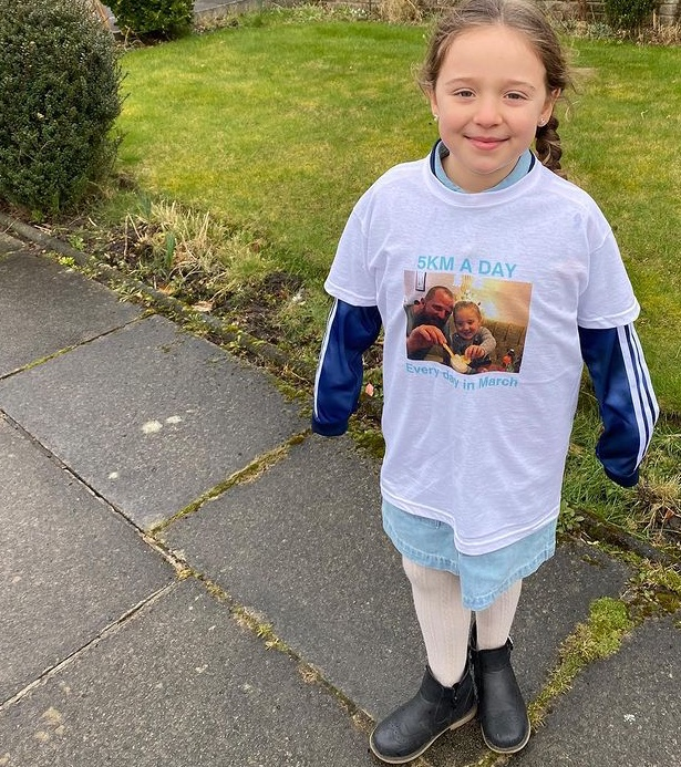 Greater Manchester girl 7-year-old Robyn is running 5k a day everyday