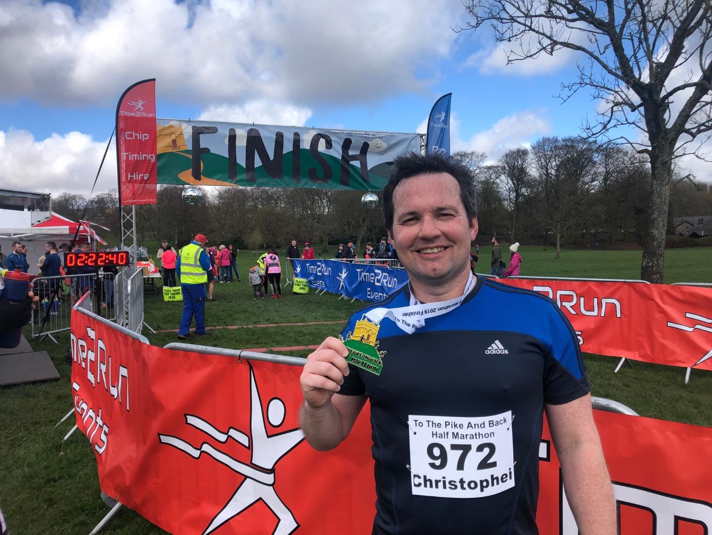 MP runs Rivington Half Marathon for Derian House