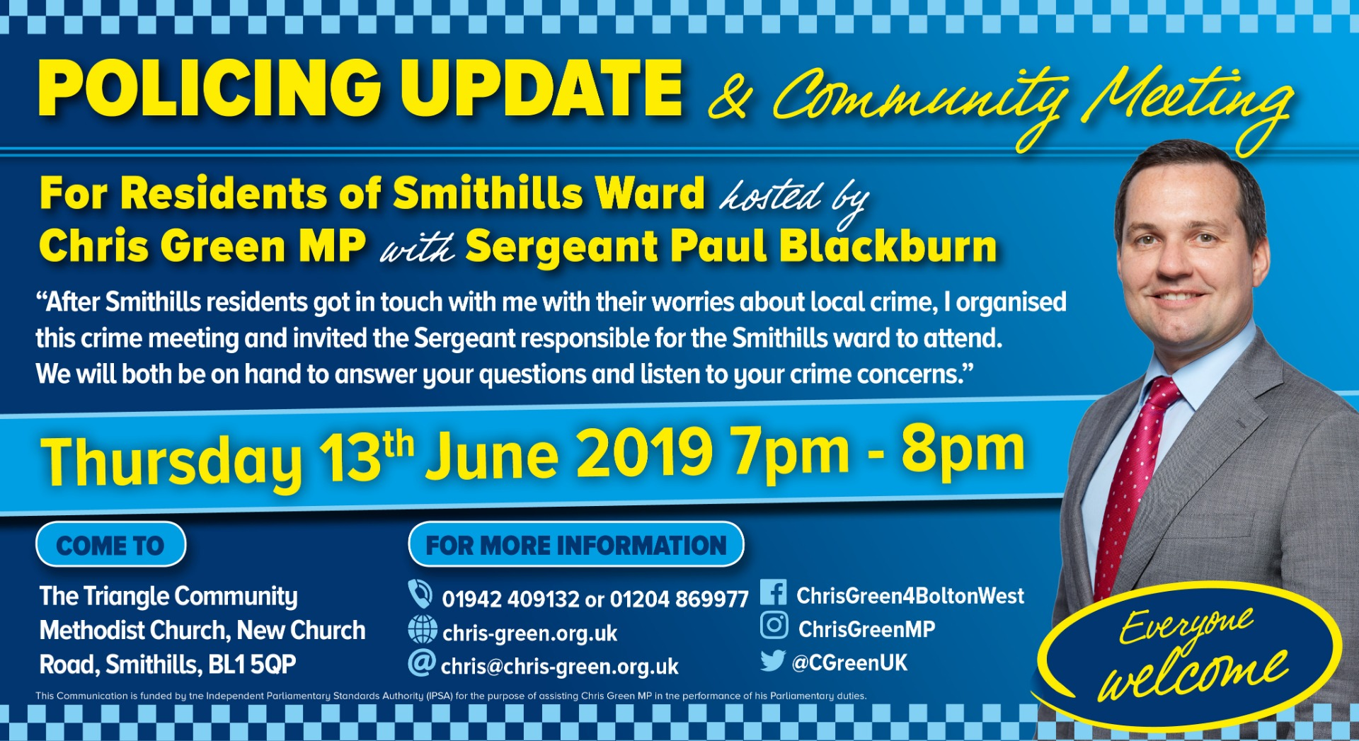 Smithills residents invited to important crime meeting