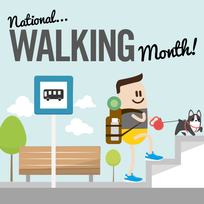 Those paws were made for walking this month!