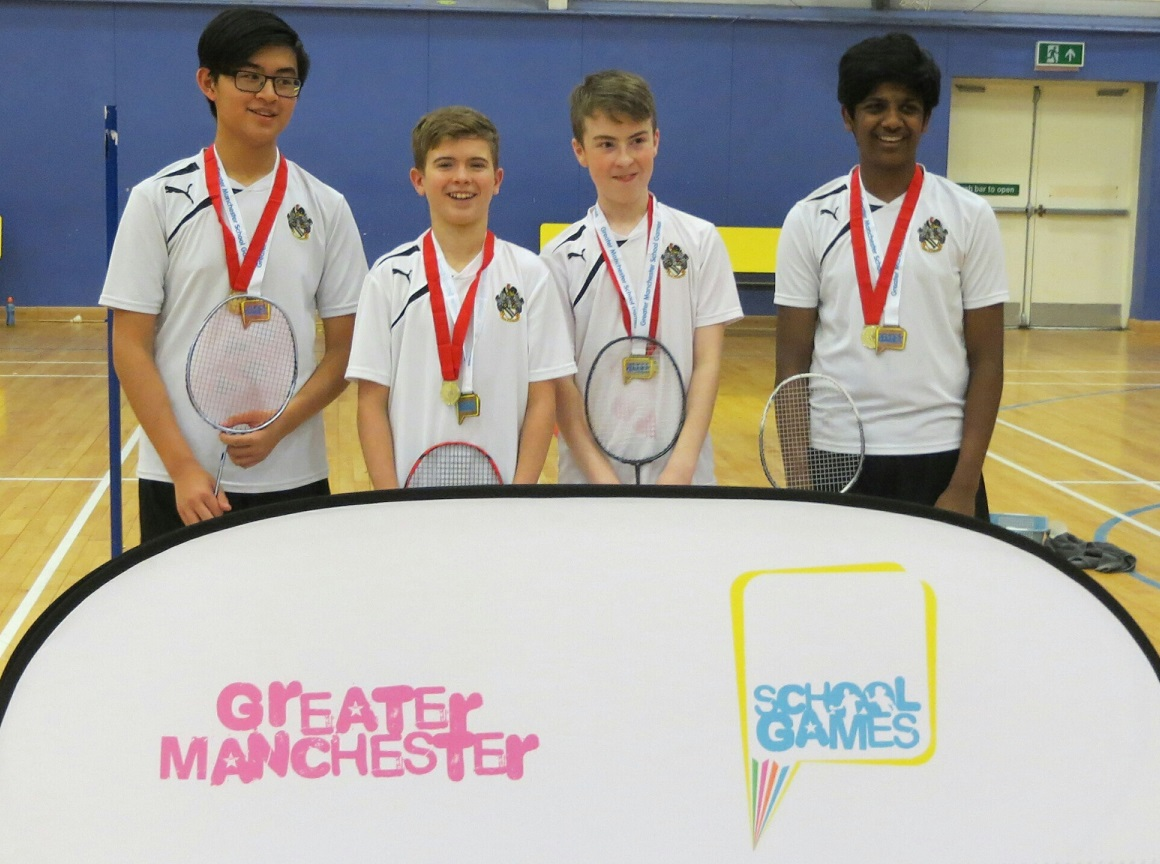 Boys are Greater Manchester badminton champions