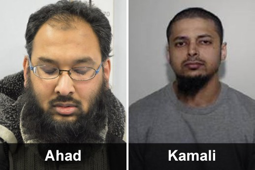 Two men have been jailed after disseminating terrorism-related material