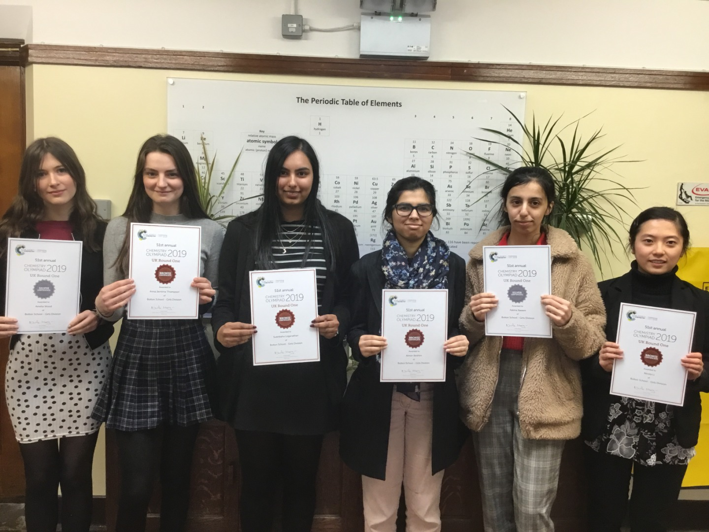 Silver and Bronze Certificates in Chemistry Olympiad