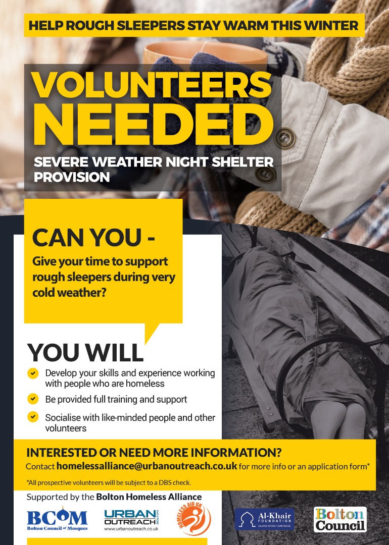 A warm place to sleep: Winter shelter volunteers needed