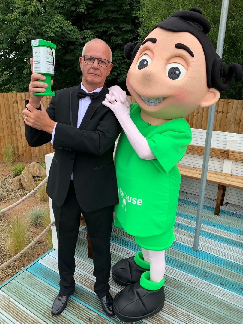 Brave grandad shaken not stirred in epic challenge for children's hospic