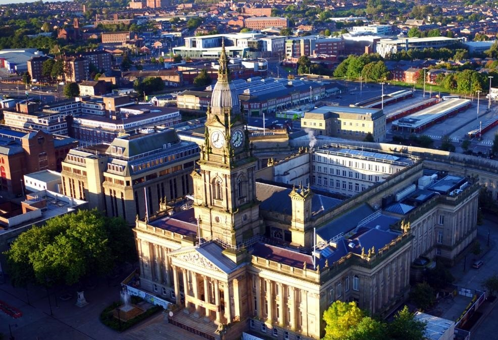 Bolton Town Hall to turn pink and blue