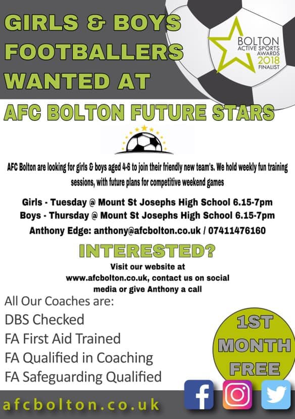 Join in with AFC Bolton