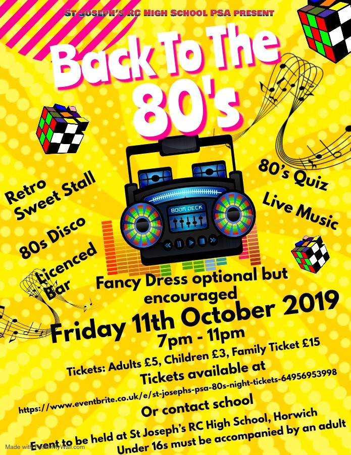 Tickets are now on sale for the best 80s night Horwich has ever seen!