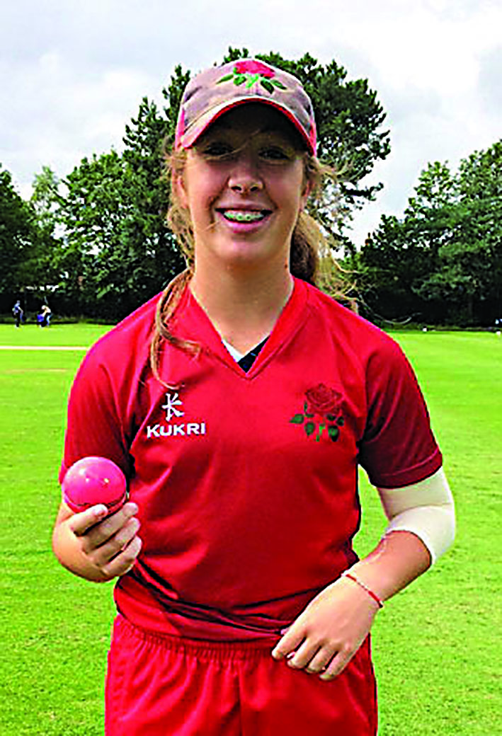 Olivia sets new Lancs record with eight wickets