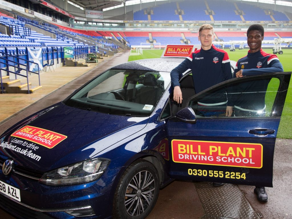 Bill Plant Driving School Offers Driving To Bolton Wanderer Junior White