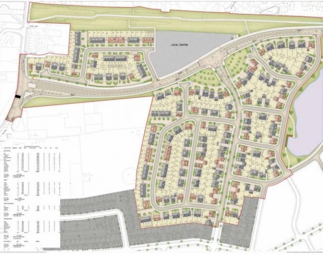 Plans to build 507 houses and district centre at North Leigh