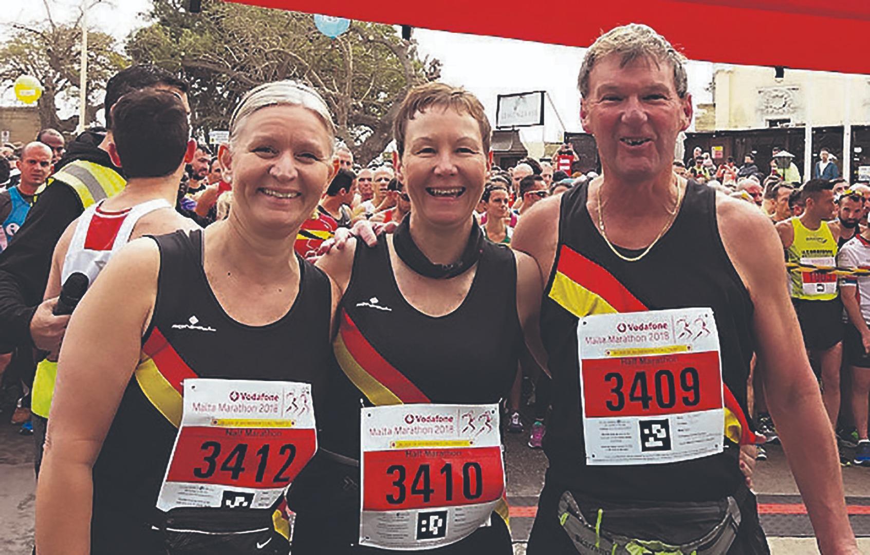 Couple's marathon effort
