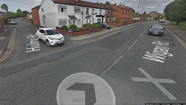 A motorcyclist has died following a collision in Leigh