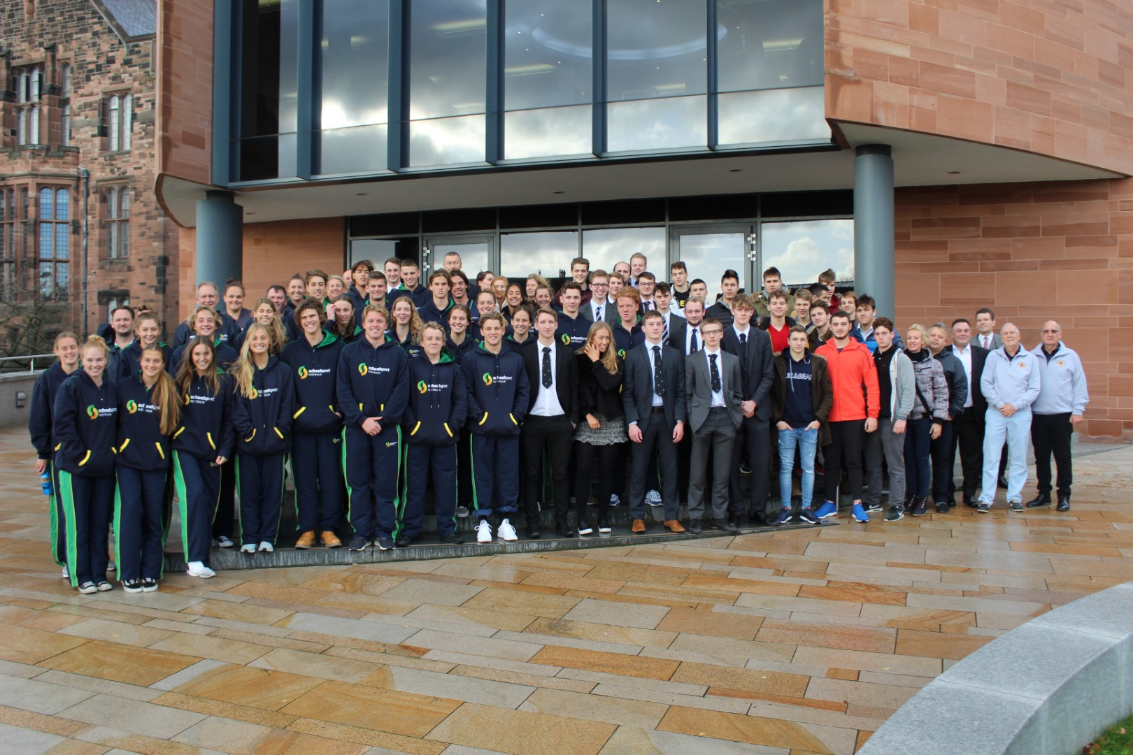 National water polo teams visit
