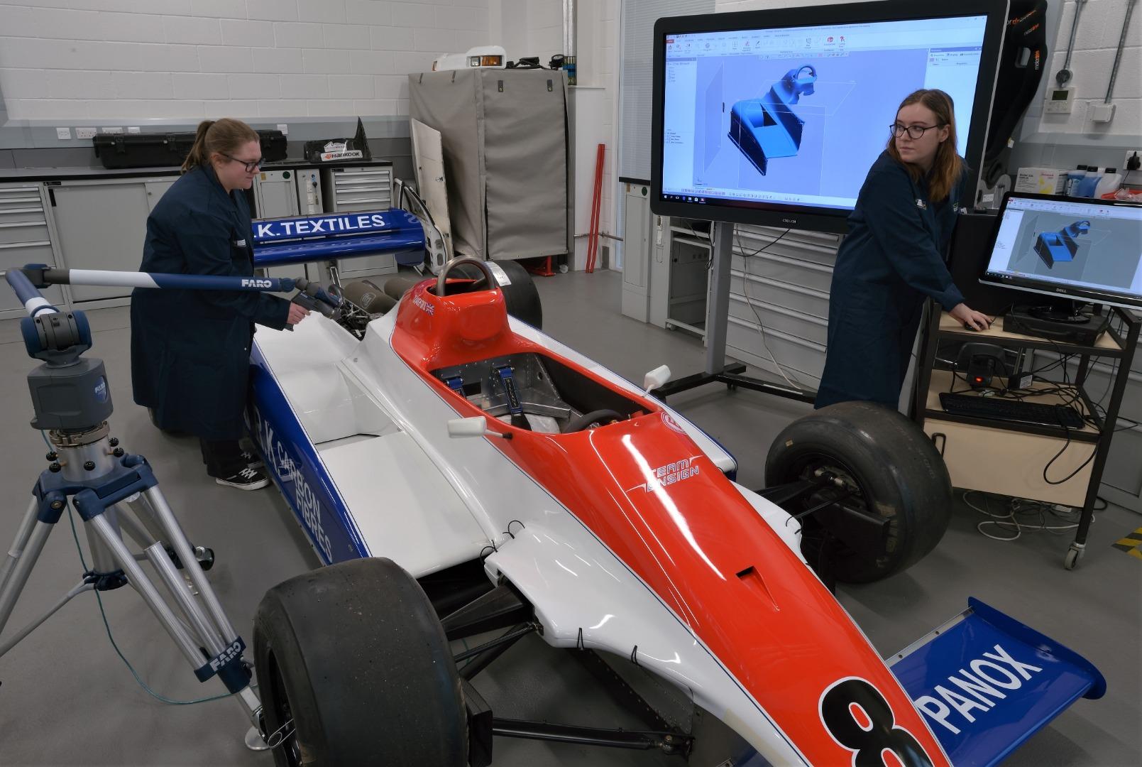 Students revved up for historic F1 car challenge
