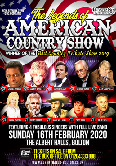 The Legends of American Country at Bolton Albert Halls